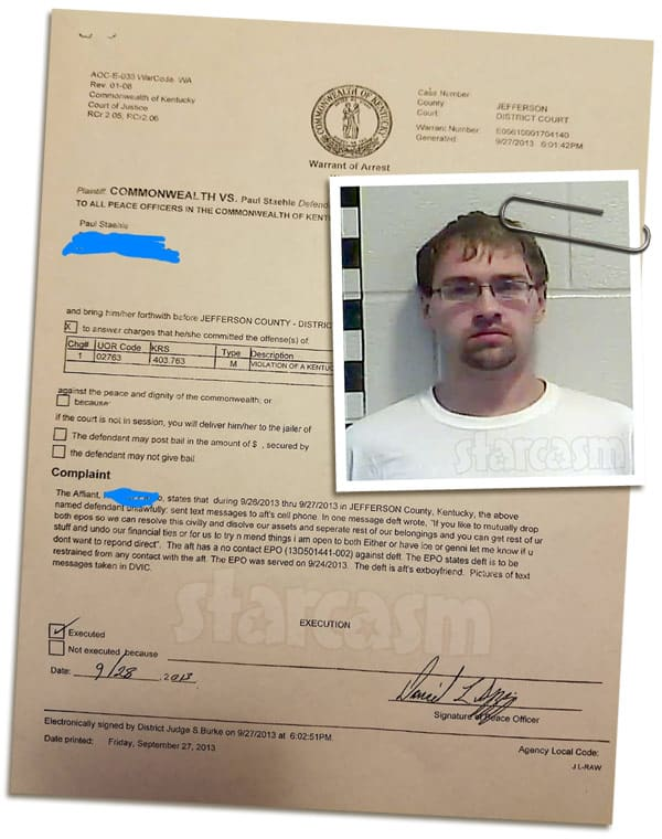 Before the 90 Days Paul Staehle arrest details