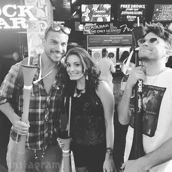 Teen Mom 2 Brooke Wehr with Vanderpump Rules stars  Jax Taylor and Tom Schwartz