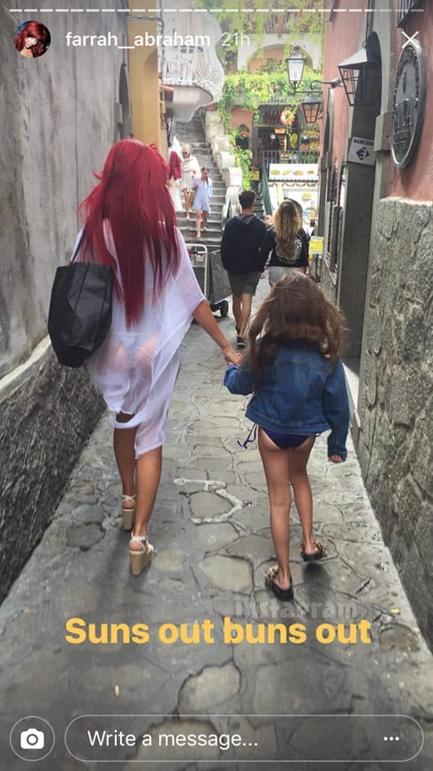 Farrah Abraham Sophia suns out buns out photo