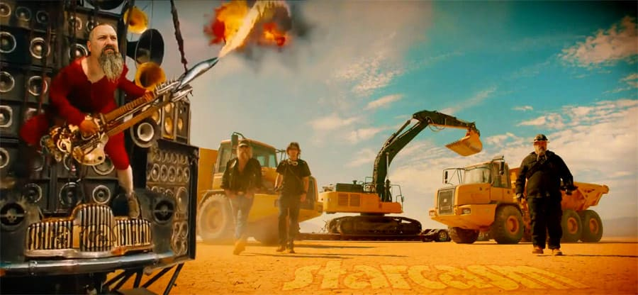 Gold Rush Mad Max Todd Hoffman flaming guitar