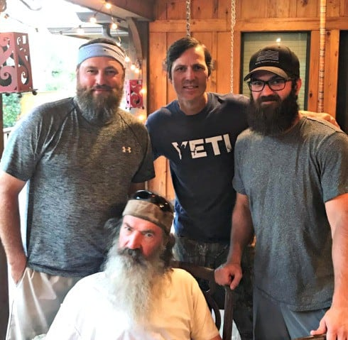 jase robertson shaved his beard video photos of the