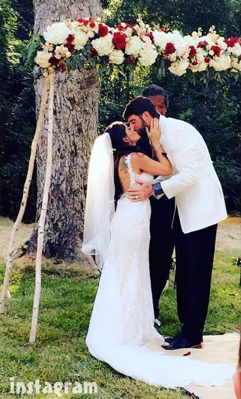 Jenelle Evans David Eason wedding kiss