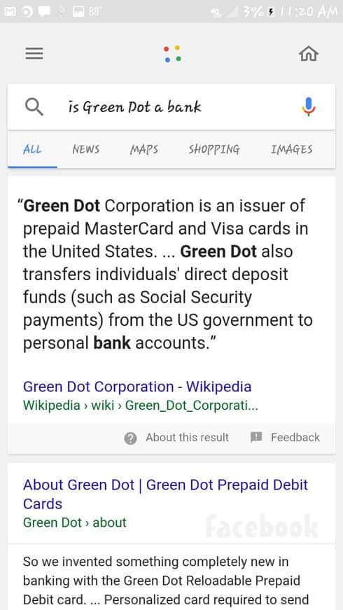 Jeremiah Raber Green Dot credit card search