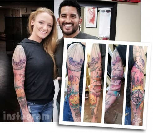 Maci Bookout McKinney_sleeve tattoo arm photos