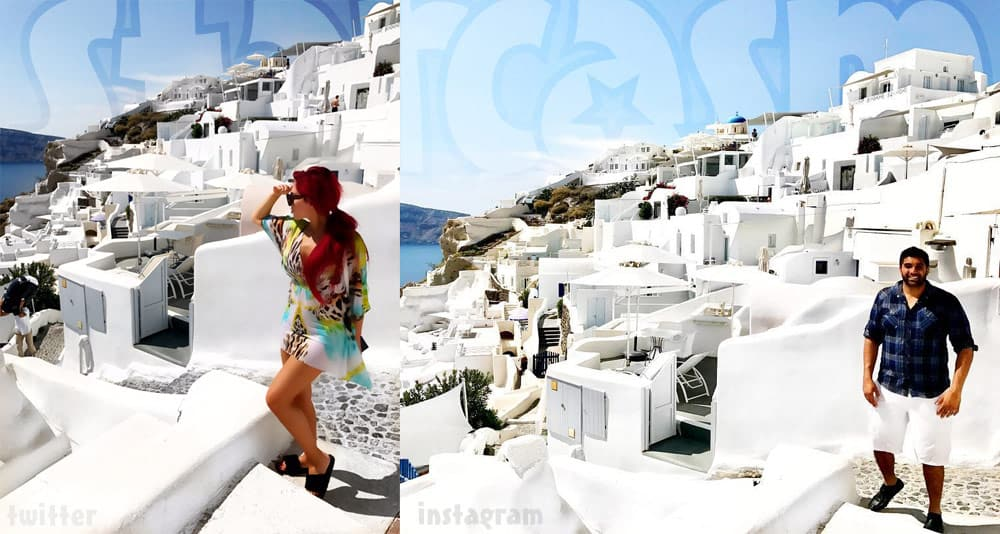 Simon and Farrah back together in Greece