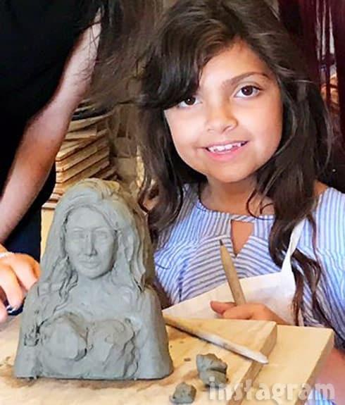 Sophia Abraham Farrah Abraham clay sculpture