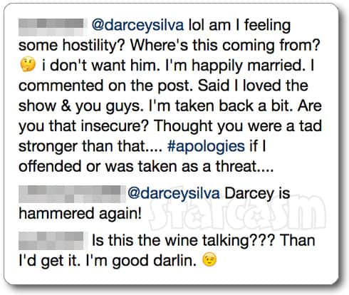 Drunk Darcey Silva Instagram comments