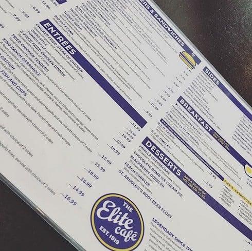 Fixer Upper restaurant menu