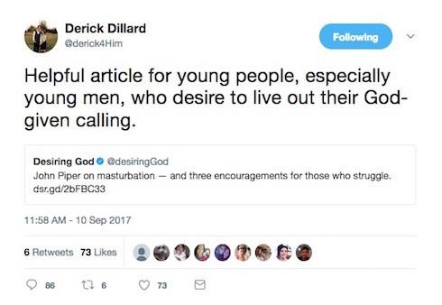 Is Derick Dillard cheating masturbation