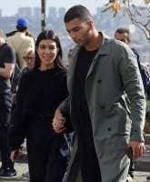 Kourtney Kardashian & Younes Bendjima are seen on a sightseeing tour of Paris