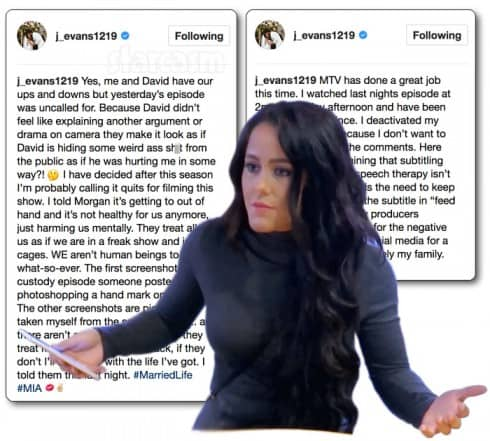 Jenelle Evans quits Teen Mom 2