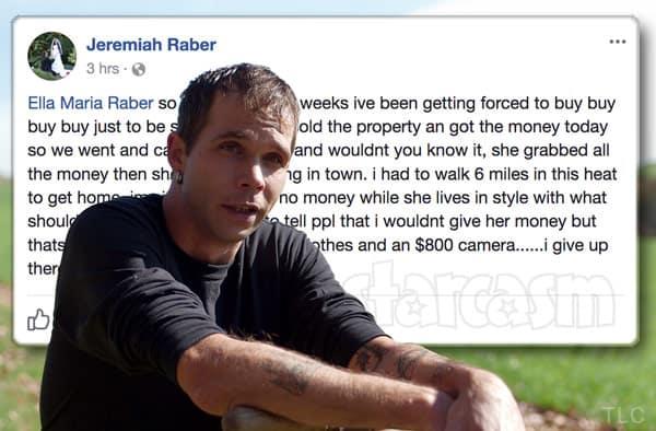 Return To Amish Jeremiah Raber and Carmela split up again