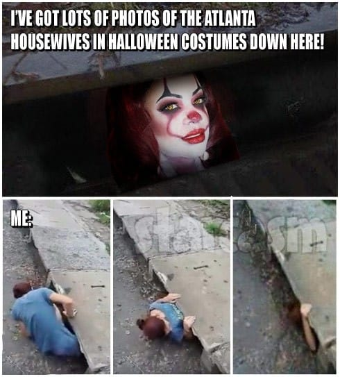 Kandi Burruss Pennywise the Clown It meme sewer