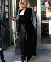 Rumored to be pregnant TV personality Khloe Kardashian leaves Bloomingdale's in New York City