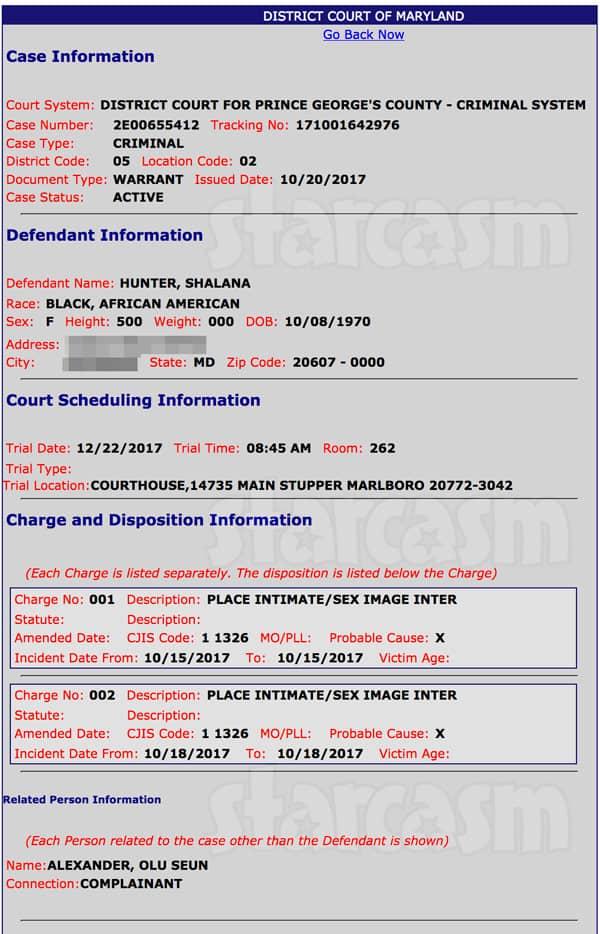 Tokyo Toni real name Shalana Hunter  arrest warrant revenge p0rn