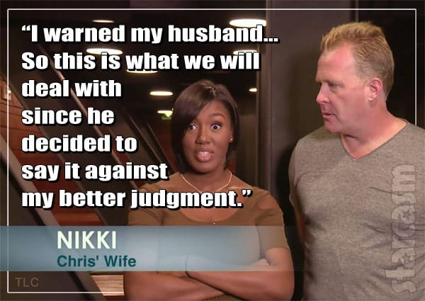 90_Day Fiance Nikki quote about husband Chris asking Annie for a massage