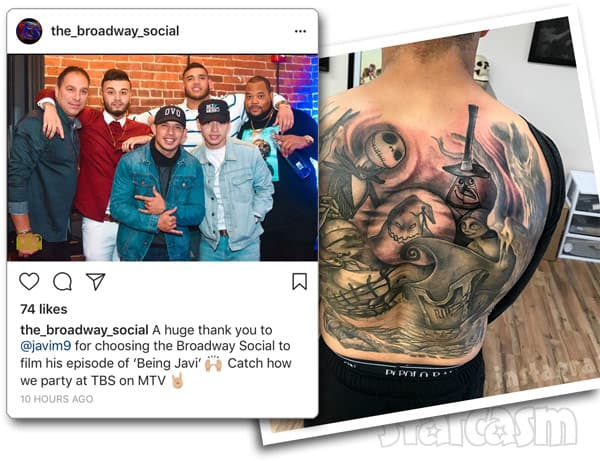 Being Javi special filming and his back tattoo