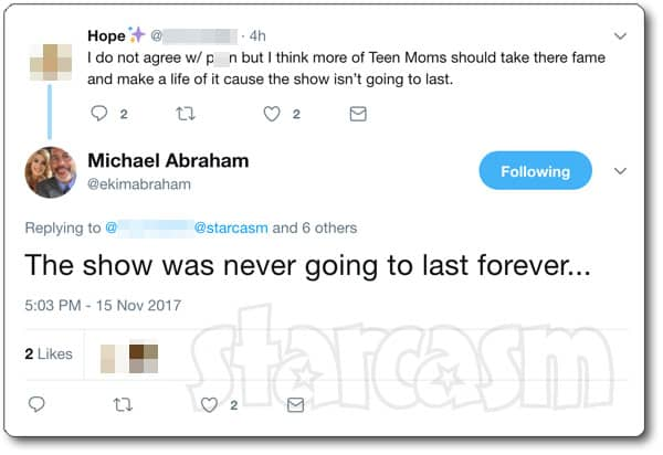 Michael Abraham on Farrah and future of Teen Mom