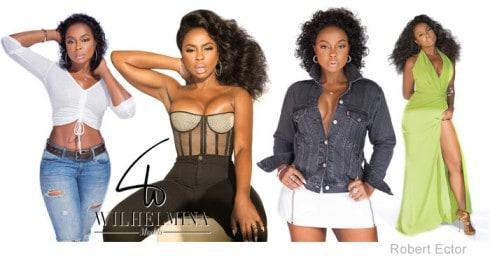Phaedra Parks modeling photos
