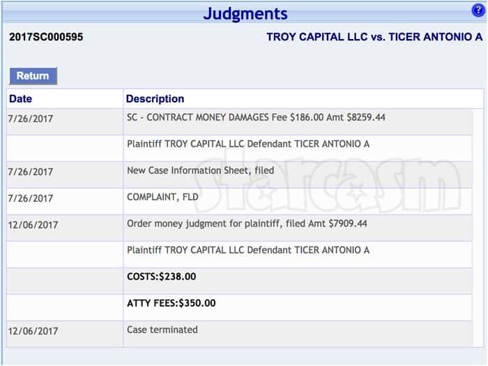 90 Day Fiance Antonio Ticer lawsuit