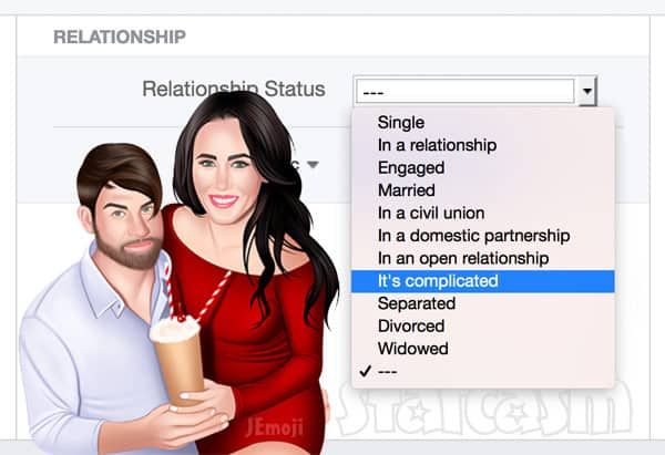 David Eason Facebook relationship status
