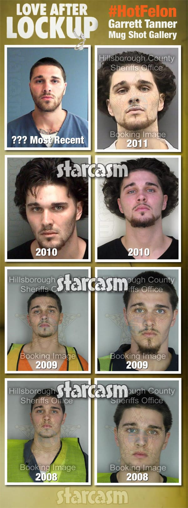 Love After Lockup Garrett Tanner mug shot photos arrests