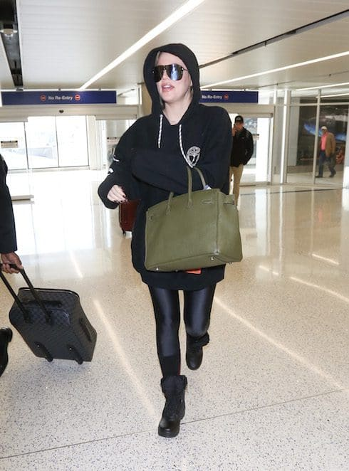 Khloe Kardashian spotted at LAX in Los Angeles