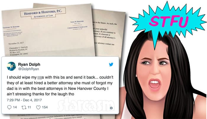 Jenelle Evans Teen Mom 2 cease and desist letter to Ryan Dolph