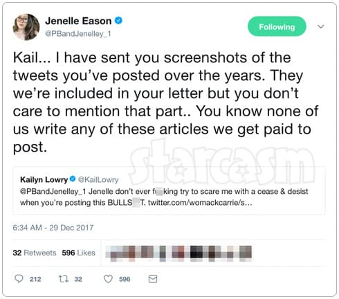 Teen Mom 2 Jenelle Kail Twitter feud 2012 part 2