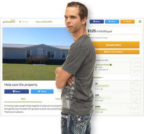 Return To Amish Jeremiah Raber GoFundMe to save his Florida house