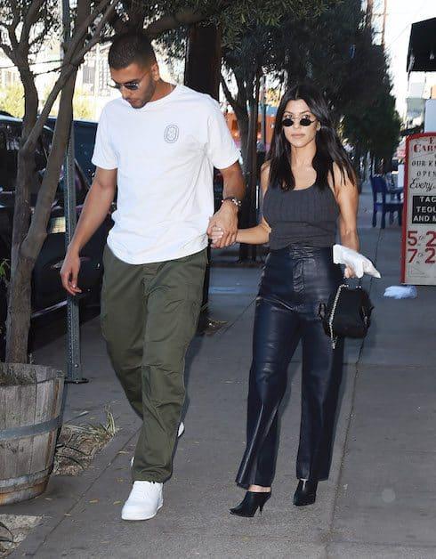 Kourtney Kardashian and Boy Toy Boyfriend Younes Bendjima Enjoy Lunch Date at Little Door Resturant