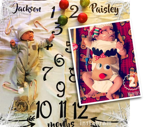 Lindsey Nicholson son Jackson daughter Paisley turn 2 months old