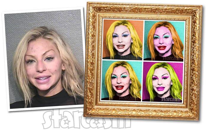 Lindy Lou Layman arrest Andy Warhol art