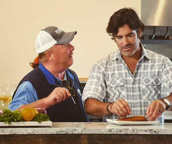Mario Batali and Carter Oosterhouse together