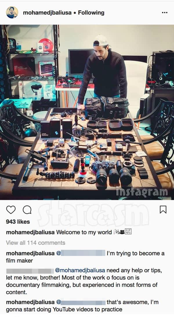 90 Day Fiance Mohamed Jbali camera equipment