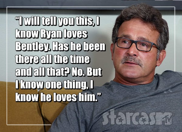 Ryan Edwards' dad Larry quote about Bentley
