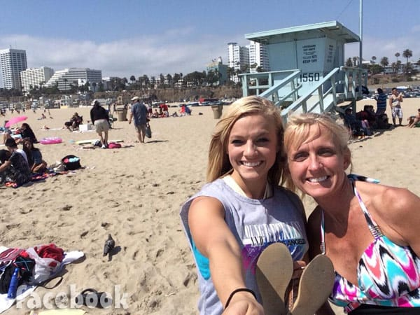 Angie Douthit and Mackenzie McKee together at the beach