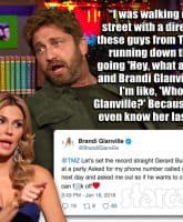 Gerard Butler Brandi Glanville Watch What Happens Live
