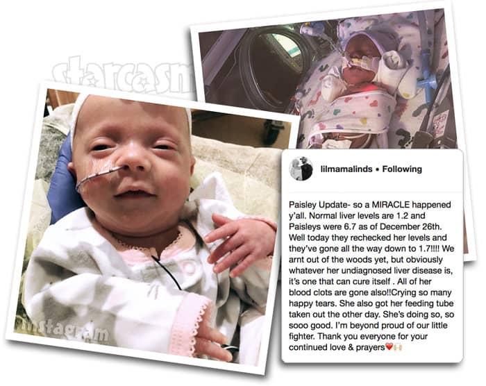 Lindsey Nicholson daughter Paisley health update 2018