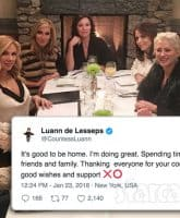 Countess Luann de Lesseps out of rehab RHONY cast