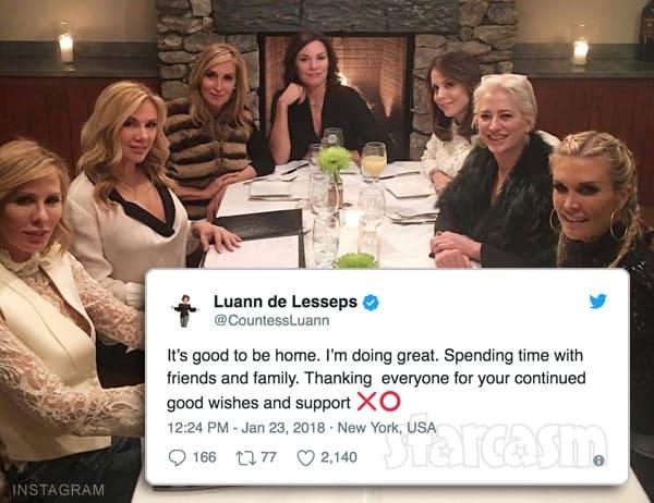 Countess Luann de Lesseps out of rehab RHONY cast