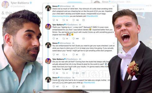 Tyler Baltierra and Simon Saran Twitter feud tweets