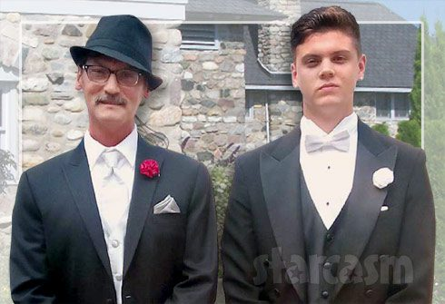 Tyler Baltierra and dad Butch Baltierra together