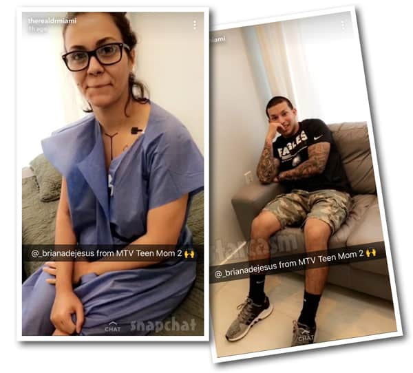 Briana and Javi are back together for her Dr. Miami plastic surgery