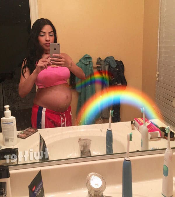Buckwild pregnant Salwa Amin baby bump photo
