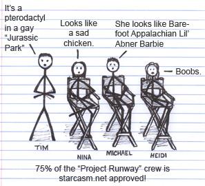 Project Runway's Tim Gunn Nina Garcia Michael Kors and Heidi Klum
