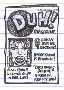 Duh Magazine Lisa Rinna Lindsay Lohan Kerry Katona