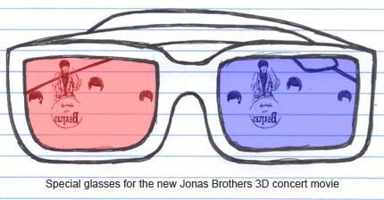 Jonas Brothers 3D Concert Movie glasses