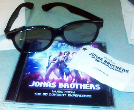 Jonas Brothers 3D glasses