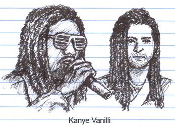 Kanye West and Justin Timberlake as Kanye Vanilli